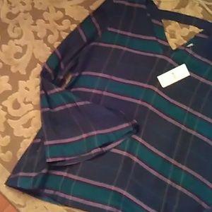 Loft bar back plaid blouse